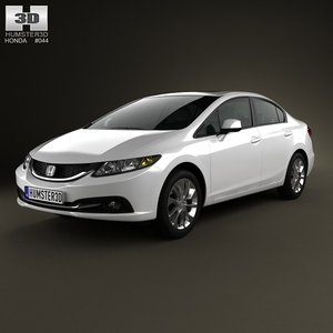 3d model of sedan 2013 civic