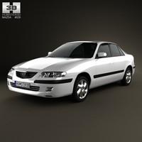 sedan 1998 626 3d c4d