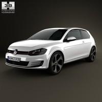 3d model 2014 3 door