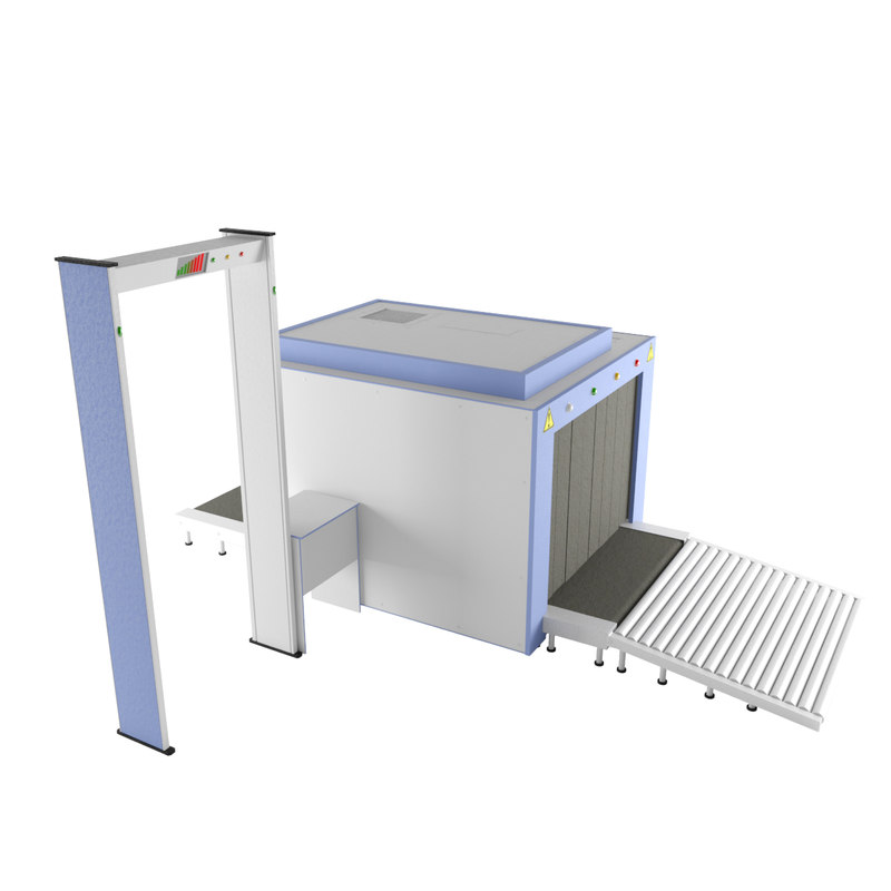 3d model baggage check airport