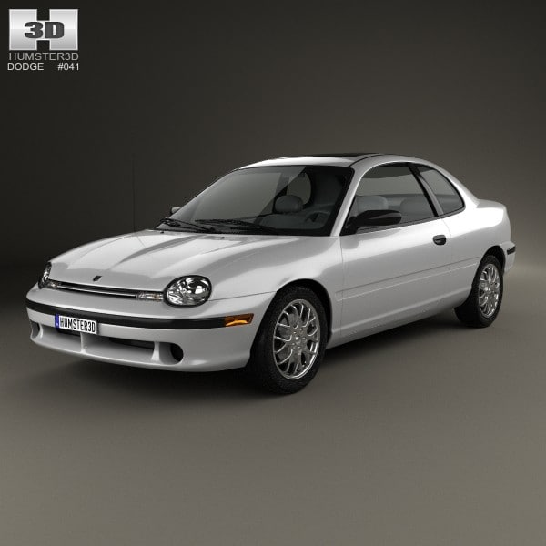 3d Model Coupe 1996 Dodge