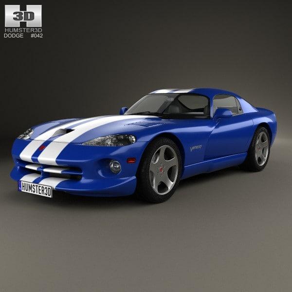 1998 dodge viper 3d model