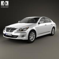 3d sedan 2012 genesis model