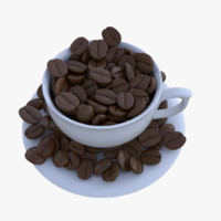 3d coffee bean