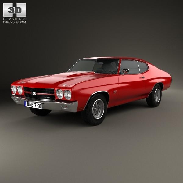 coupe 1970 396 3d model