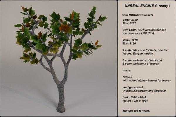 3d fantasy tree 07 model