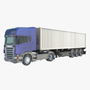 container truck 3D models