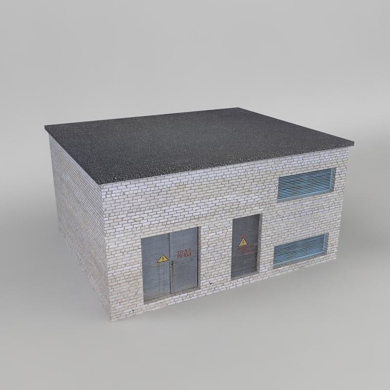 ussr station building transformator 3d model