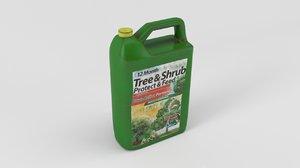 pesticides control 3d model