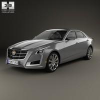 3d model 2014 4 cadillac