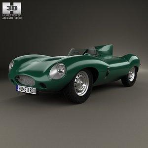 1955 d type 3d model