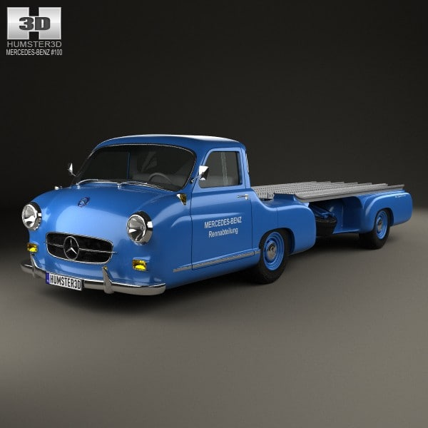 1954 benz blue 3d max