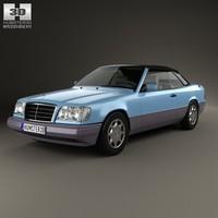 3d model convertible 1993 benz