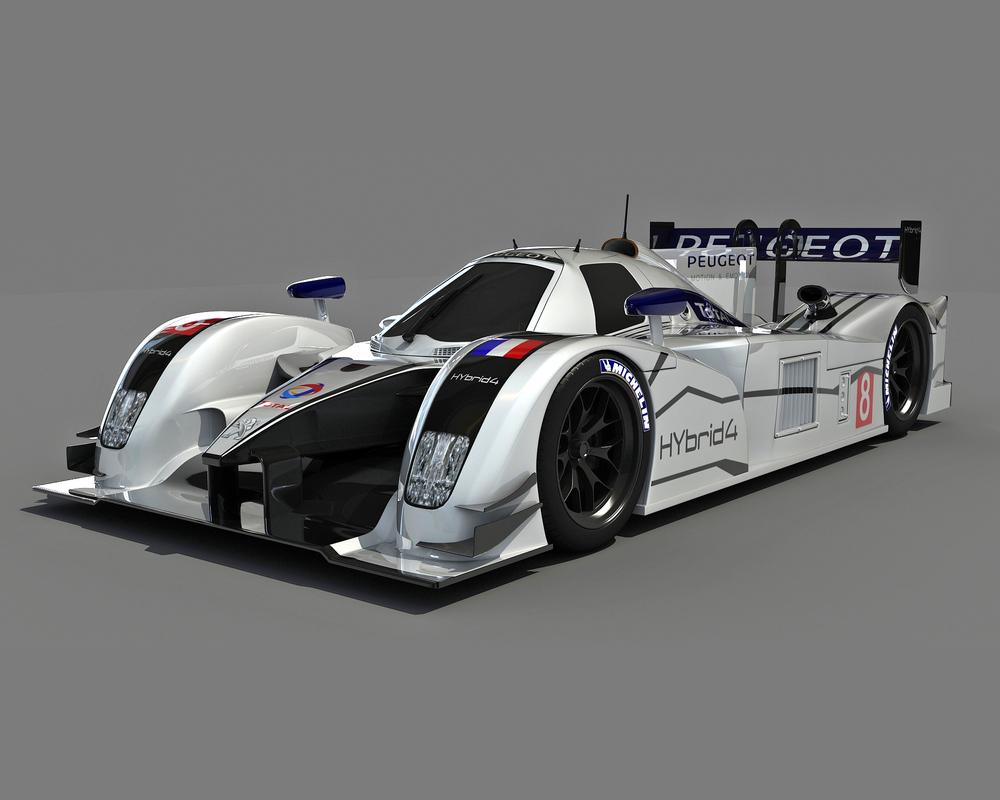 3d peugeot racecar car model