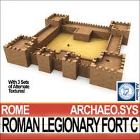 c4d roman legionary fort c