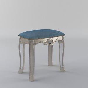3d argente dressing table model
