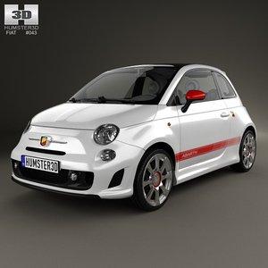 2012 500 abarth 3d model
