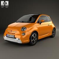3d model 2012 fiat 500