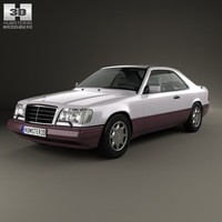 coupe benz e 3d max