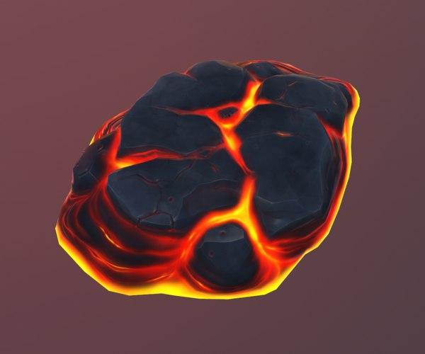 cartoon volcanic platform 01 3d model