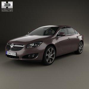 3d sedan 2012 insignia model