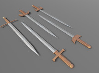 broadsword packs swords fantasy 3d model