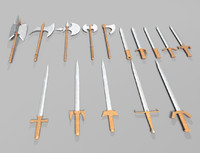 obj pack fantasy weapons swords