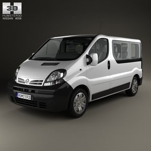 nissan primastar passenger 3d model
