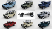 3d obj pack land rover defender