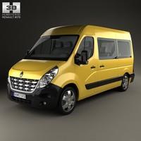 van passenger renault 3d model