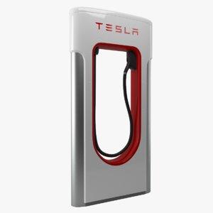 3d tesla charger model