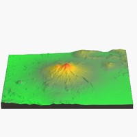 3d model landscape mount shasta