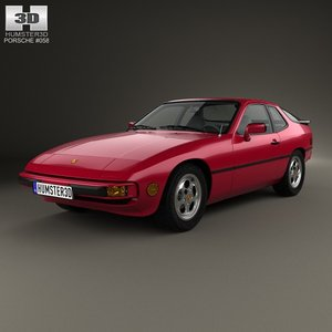 porsche 924 1976 3d model