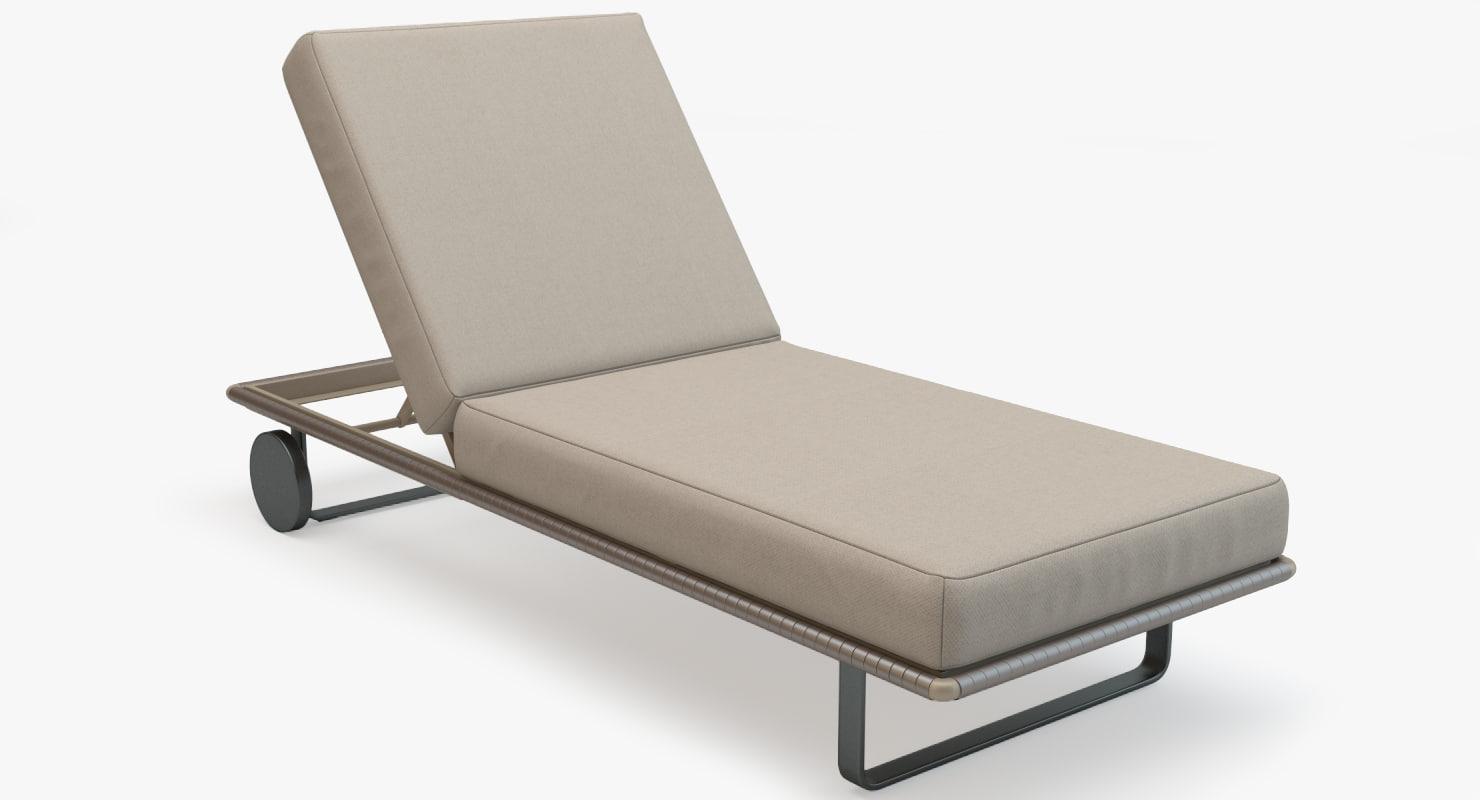 3d model kettal bitta deckchair deck