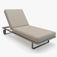 3d kettal bitta deckchair deck model