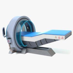3d sci-fi medical scanner