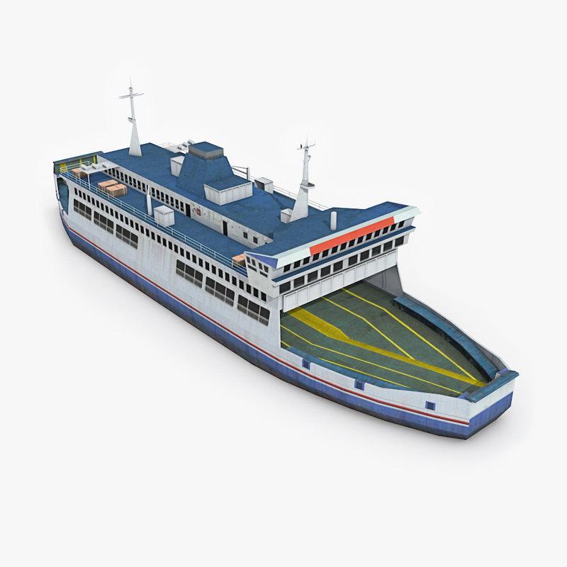 3d ferry boat model