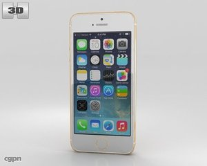 5s apple iphone 3d model