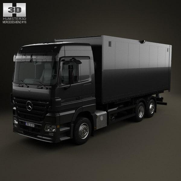 mercedes-benz actros box 3d model