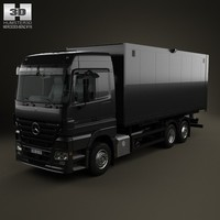 mercedes-benz actros box 3d model