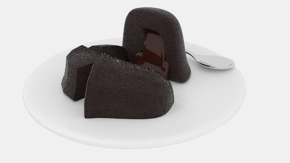 melt chocolate cake fbx