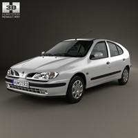 3d model renault megane 1995