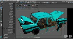 3d model austin cambridge car