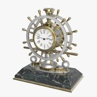 3d model french nautical desk clock