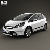 3d interior honda fit