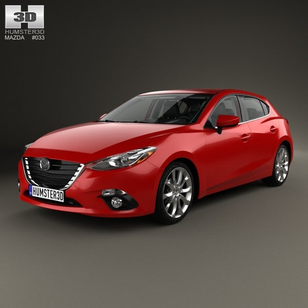 2014 interior hatchback 3d model