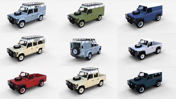 pack land rover defender obj
