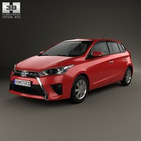 3d model 2014 5-door hatchback