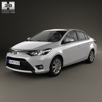 toyota yaris 2014 3d model