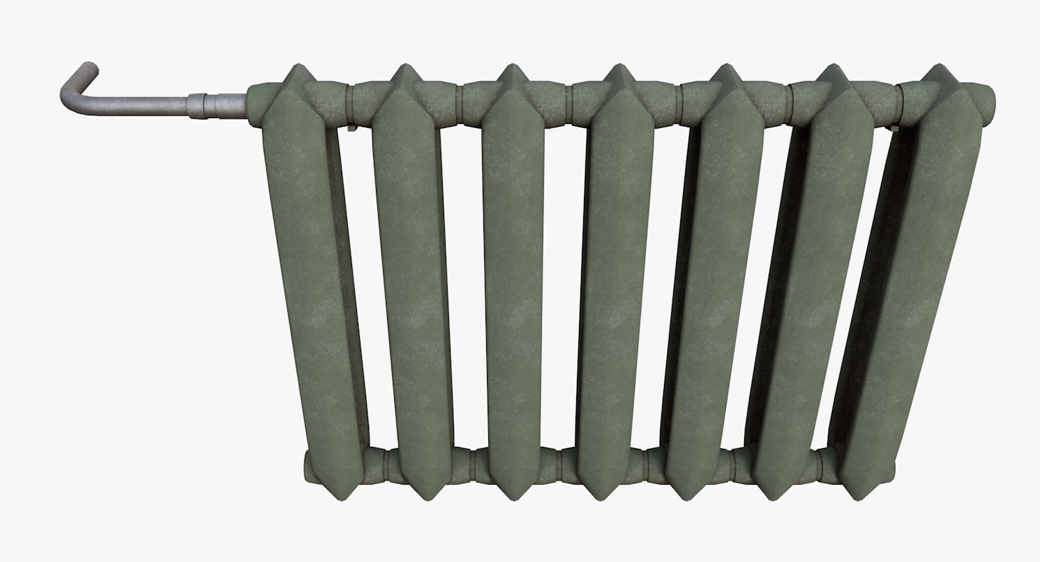 obj radiator pbr metallic